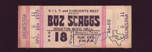 Boz Scaggs - Apr 18, 1976 at Houston Music Hall