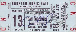 Dan Fogelberg - Mar 13, 1976 at Houston Music Hall