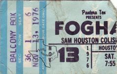 Foghat - Nov 13, 1976 at Sam Houston Coliseum