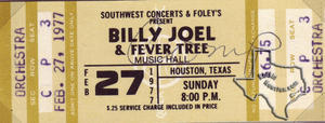Billy Joel - Feb 27, 1977 at Houston Music Hall