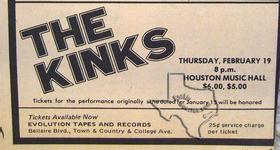 Kinks - Feb 19, 1976 at Houston Music Hall