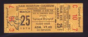 Lynyrd Skynyrd - Mar 25, 1976 at Sam Houston Coliseum