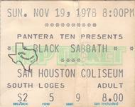 Black Sabbath - Nov 19, 1978 at Sam Houston Coliseum