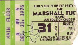Marshall Tucker - Dec 31, 1976 at Sam Houston Coliseum