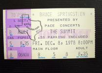 Bruce Springsteen - Dec 8, 1978 at The Summit