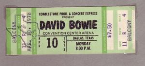 David Bowie - Apr 10, 1978 at Dallas Convention Center Arena