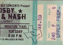 Crosby Stills and Nash (& Young), CSN&Y, CSN, Crosby / Nash - Nov 22, 1977 at The Summit