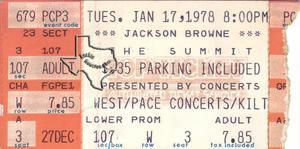 Jackson Browne - Jan 17, 1978 at The Summit