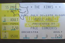 Kinks - May 2, 1976 at Houston Music Hall
