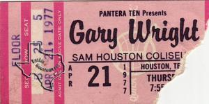 Gary Wright - Apr 21, 1977 at Sam Houston Coliseum