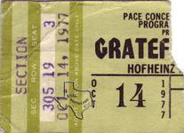 Grateful Dead - Oct 14, 1977 at Hofheinz Pavilion