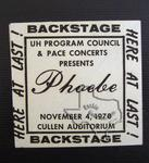 Phoebe Snow - Nov 4, 1978 at Cullen Auditorium