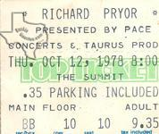 Richard Pryor - Oct 12, 1978 at The Summit