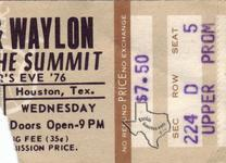 Waylon Jennings - Dec 31, 1976 at The Summit