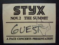 Styx - Nov 2, 1978 at The Summit