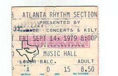 Atlanta Rhythm Section - Sep 14, 1979 at Houston Music Hall