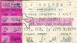 Boston - Feb 3, 1979 at The Summit