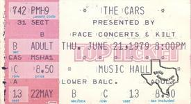 Cars - Jun 21, 1979 at Houston Music Hall