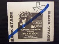 Ian Hunter - Jul 20, 1979 at Cullen Auditorium