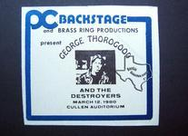George Thorogood - Mar 12, 1980 at Cullen Auditorium
