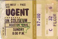 Ted Nugent - Jan 23, 1977 at Sam Houston Coliseum