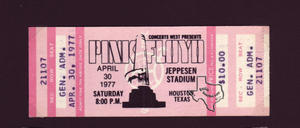 Pink Floyd - Apr 30, 1977 at Jeppesen Stadium