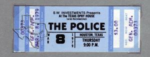 The Police - Mar 8, 1979 at Texas Opry House