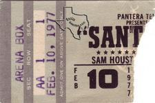 Santana - Feb 10, 1977 at Sam Houston Coliseum