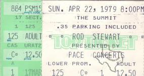 Rod Stewart (also see Faces) - Apr 21, 1979 at The Summit