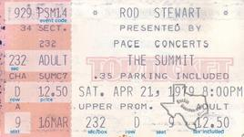 Rod Stewart - Apr 21, 1979 at The Summit