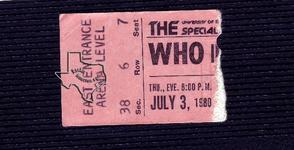 The Who - Jul 3, 1980 at Austin Special Events Center (Frank Erwin Center) Austin, Texas