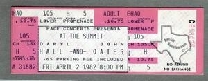 Hall & Oates - Apr 2, 1982 at The Summit