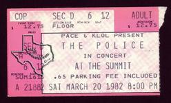 The Police - Mar 20, 1982 at The Summit