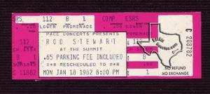 Rod Stewart - Jan 18, 1982 at The Summit