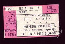 The Clash - Jun 5, 1982 at Hofheinz Pavilion
