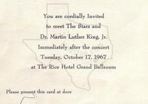 - Oct 17, 1967 at MLK Gala