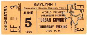Urban Cowboy World Premiere - Jun 5, 1980 at Gilleys
