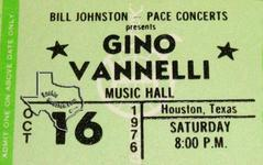 Gino Vanelli - Oct 16, 1976 at Houston Music Hall