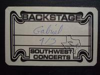 Peter Gabriel - Apr 3, 1977 at Houston Music Hall