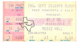 AC/DC - Sep 20, 1979 at Houston Music Hall