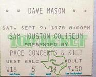 Dave Mason - Sep 9, 1978 at Sam Houston Coliseum