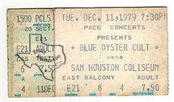 Blue Oyster Cult - Dec 11, 1979 at Sam Houston Coliseum