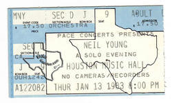 Neil Young - Jan 13, 1983 at Houston Music Hall