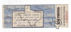 Simon & Garfunkel - Aug 17, 1983 at Houston Astrodome