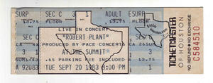 Robert Plant - Sep 20, 1983 at The Summit