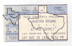 Jackson Browne - Aug 20, 1983 at The Summit