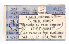 Neil Young - Jul 16, 1983 at The Summit