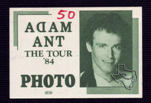 Adam Ant - Apr 4, 1984 at Houston Music Hall