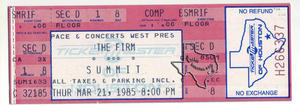 The Firm - Mar 21, 1985 at The Summit