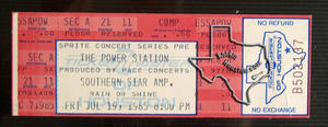 Power Station - Jul 19, 1985 at Astroworld / Southern Star
